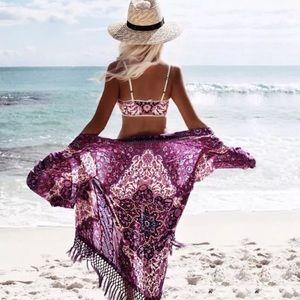 New beach kimono cover up